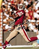 Jerry Rice Autographed SF 49ers 8×10 Photo #2 #80 PSA/DNA