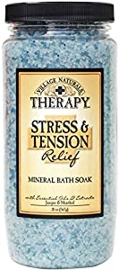 Village Naturals Therapy Stress and Tension Relief Mineral Bath Soak - Juniper and Menthol 20oz