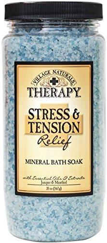 Village naturals Mineral Bath Soak, Aches and Pains Tension Relief, Juniper and Menthol, 20 oz