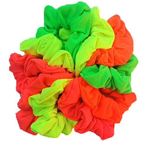 Cotton Scrunchie Set, Set of 10 Soft Cotton Scrunchies
