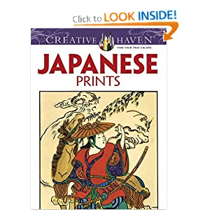 Creative Haven Japanese Prints Coloring Book (Dover Design Coloring Books) by Ed Sibbett Jr., Creative Haven and Coloring Books for Adults