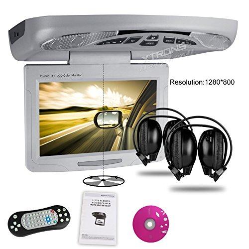 XTRONS® Grey 11″ Overhead Car DVD Player Roof Flip Down