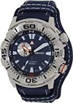 Seiko Superior Automatic Blue Dial Blue Canvas Mens Watch SSA053