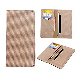 SkyAnk Pu Leather Wallet Pouch Case Cover For Lava Iris 354E