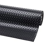 Original Crillys 3m x 1.5m Wide Checker Plate Anti Slip Garage Floor Rubber Matting