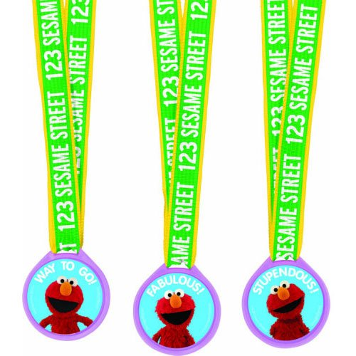Sesame Street Party - Assorted Medals Party Accessory
