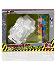 Boy Stuff Decorate Your Own Racing Car Money Box Toy Set