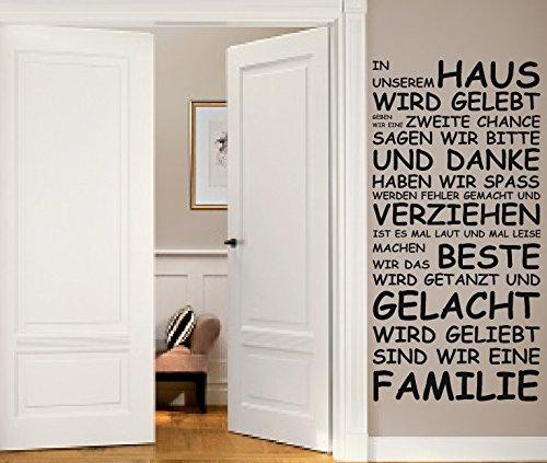 Wandtattoo XXL In unserem Haus.. Deko, Flur, Wohnzimmer ca.120x59cm + Testmotiv GRATIS dazu! TOP! kaufen