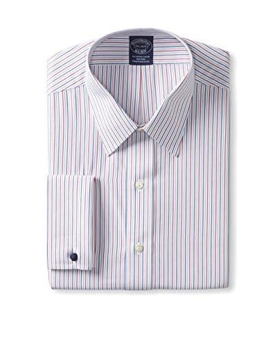 Brooks Brothers Men's Forward Point Alternate Stripe Slim Fit Shirt
