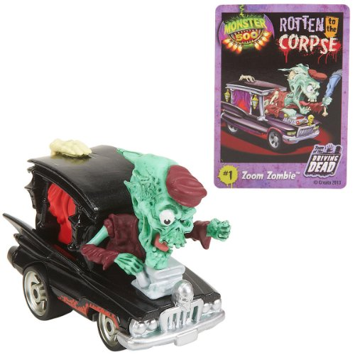 Toys R Us Monster 500 Small Car & Trading Card - Zoom Zombie - 1