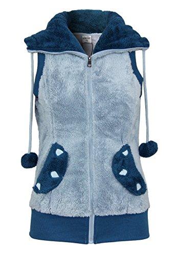 Fresh Made Teddy polar jacket with ears, Größe:M;Farbe:Light Blue