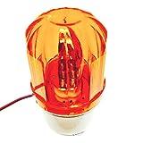 ange select フラッシュ 回転 ライト 警告灯 黄 青 赤 DC24V 10W 緊急灯 や セキュリティー ライト としても(DC24V黄)