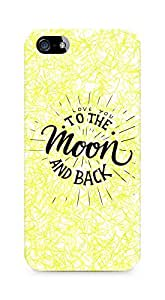 AMEZ love you to the moon and back Back Cover For Apple iPhone 5s
