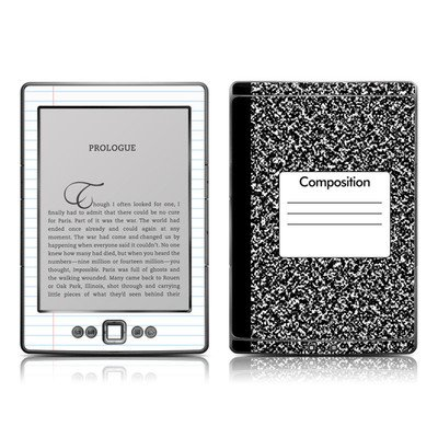 Composition Notebook Design Protective Decal Skin Sticker - High Gloss Coating For Amazon Kindle 4 (5-Way Controller - 4Th Gen / Release In Oct 2010)