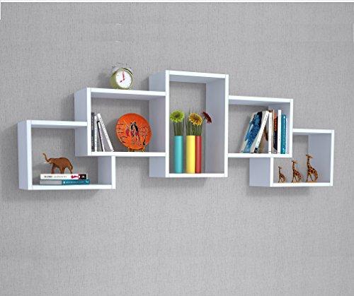 BIEN Mensola moderna da muro - Bianco - Mensola Parete - Mensola Libreria - Scaffale per libri