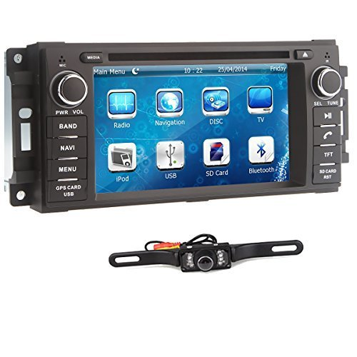 Lightinthebox® 6.2 inch For Jeep COMMANDER CHEROKEE LIBERTY WRANGLER DODGE CHARGER RAM 1500 Car DVD Player GPS/Bluetooth/USB/SD/FM/AM/Radio In Dash HD Touch Screen Car Stereo Canbus RDS with Free backup rear view camera (Rear Window For 2008 Dodge Ram compare prices)