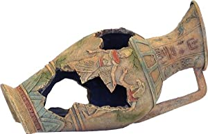 Exotic Environments Egyptian Vase Aquarium Ornament