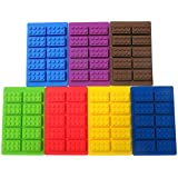2 Pcs Building Brick Silicone Mold Tray Candy Ice Soap Crayons Chocolate Ice Cube for Lego Lovers with Bonus Free Tips, Tricks and Recipes