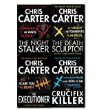 Chris Carter Collection 4 Books Set,(The Executioner The Death Sculptor The Night Stalker[hardcover]The Crucifix Killer) Chris Carter