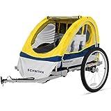 Schwinn Echo Double Bike Trailer, Yellow
