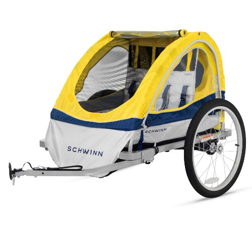 Schwinn Echo Double Bike Trailer, Yellow