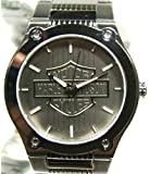 Harley-Davidson® Bulova® Men's Watch. Silver patterned dial with raised H-D® Logo. Luminous. All stainless steel. WR50m/165ft. 76A134
