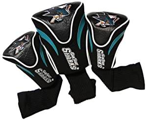 NHL San Jose Sharks 3 Pack Contour Headcovers by Team Golf