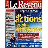 REVENU (LE) [No 662] du 22/03/2002 - REPRISE EN VUE - LES ACTIONS LES PLUS ATTRAYANTES - CREDIT AGRICOLE - DOW...