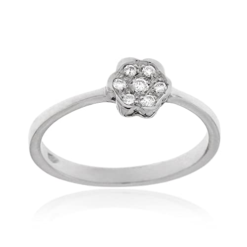 Gioiello Italiano - White gold ring with 0.05ct diamonds