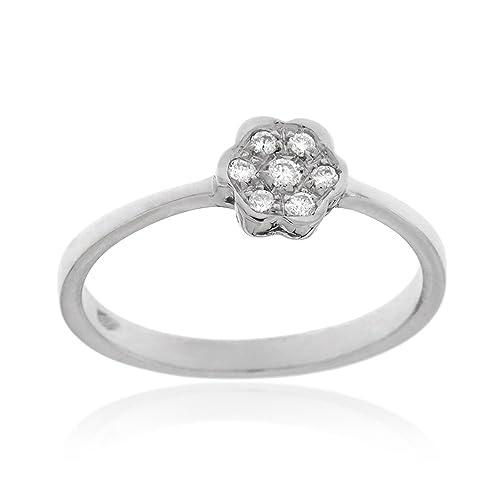 Gioiello Italiano - White gold ring with 0.05ct diamonds