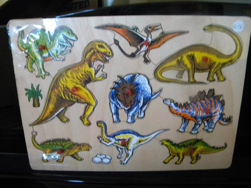 Picture of Price Dinosaurs Wooden Peg Puzzle (B004LL1IKA) (Pegged Puzzles)