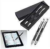 Metall Schreibset - Kugelschreiber mit Touch Pen