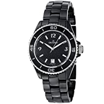 Grovana Black Dial Black Ceramic Ladies Watch 4001.1187