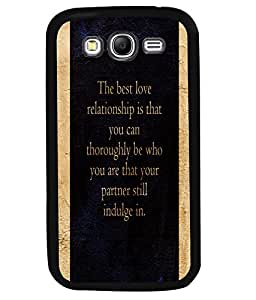 PrintVisa Metal Printed Quotes Designer Back Case Cover for Samsung Galaxy Grand Neo-D4935