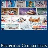 timbres pour les collectionneurs: non Pays 50 uniquement différents timbres spéciaux recueillis à un hélicoptère-Collectio