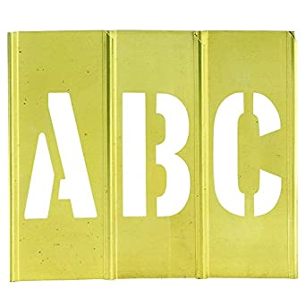 amazoncom aviditi stbln3 letter number brass stencils 3 With amazon letter stencils