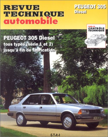 livre revue technique automobile 734 1 peugeot 305. Black Bedroom Furniture Sets. Home Design Ideas