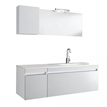 Mobile da Bagno sospeso Bali 01 Twist Bianco TFT Home Furniture