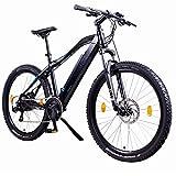 NCM Moscow 27,5 Zoll Elektrofahrrad Mountainbike E-MTB E-Bike,Pedelec ALU 36V 250W SAMSUNG Zellen designer Rahmen Akku mit 13Ah,matt schwarz