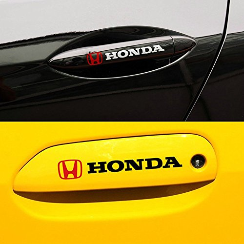 Encell 4 Car Decal Auto Door Handle Sticker for Honda,White (The Doors Sticker compare prices)