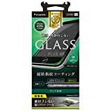 Simplism iPhone7 フィルム [FLEX 3D] 立体成型フレームガラスフィルム ブラック  TR-GLIP164-F3CCBK