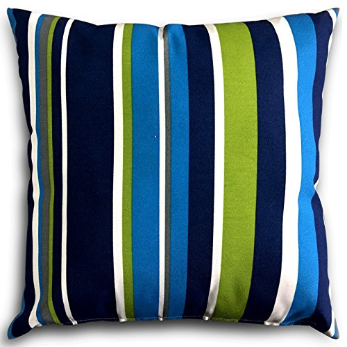 Madison Square 18-Inch Decorative Pillows : Decorative Square 18 x 18 Inch Throw Pillows (Indoor/Outdoor) - Blue, Green & eBay