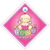 Baby On Board Car Sign Big Pink Baby on Board Sign Baby on Board Grandchild On Board Baby Girl On Board Baby Sign Baby Car Sign Car Sticker Bumper Sticker Decal Baby Graphic