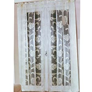 Coppia tenda per arredo salotto colore bianco 140x290 for Arredo casa amazon