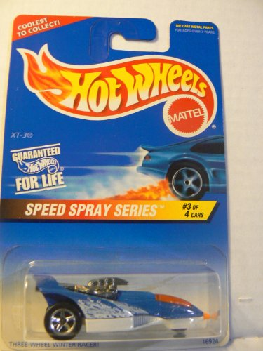 Hot Wheels Speed Spray Series #3 of 4 Cars XT-3 Collector #551 on Coolest to Collect Card - 1