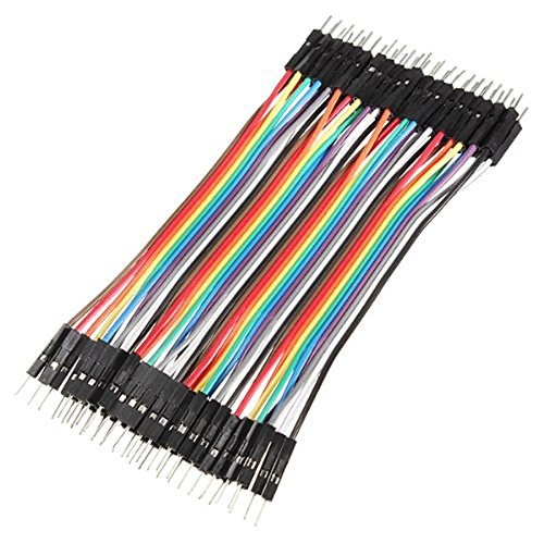 Male to Male 40pcs 10cm 2.54mm Dupont Jumper Wires Cables for Arduino Breadboard