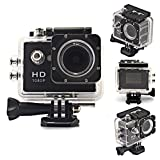 Soyan 1080P 30fps 12 Mega Pixels H.264 1.5 Inch 170°Wide Angle Lens Outdoor Waterproof Sports Home Security DV/CAR DVR/Camera FPV supported,AV output supported(Black)