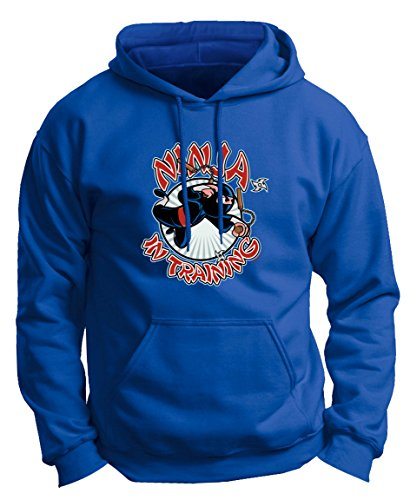 Halloween Ninja Ninja in Training Premium Hoodie Sweatshirt Large Royal (Big Mouth Toys The Ninja Mug compare prices)