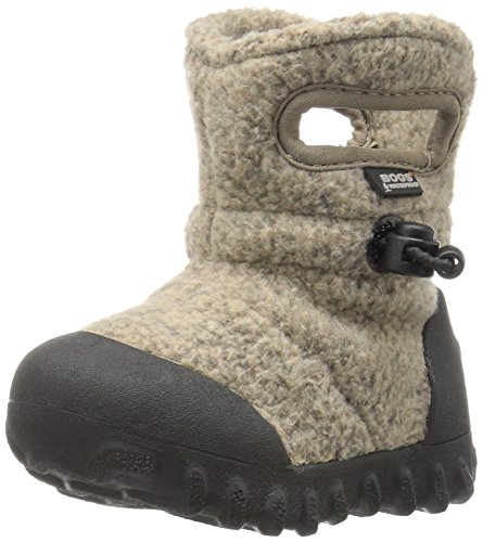 Bogs Baby B-MOC Fleece Winter Snow Boot (Toddler), Cocoa, 4 M US Toddler