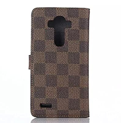 LG G4 Case,[Kickstand Feature] Bongeek LG G4 Wallet Case [PU+PC][Grid Pattern] Premium PU Leather Flip Cover for LG G4 4.7 inch , Built-in Credit Card/ID Card Slot--2015 Model [Brown/Black] from Sunnyday